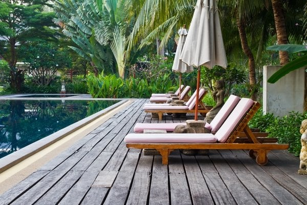 Wooden Decking For Inground Swimming Pools Inland Empire Pool Builders